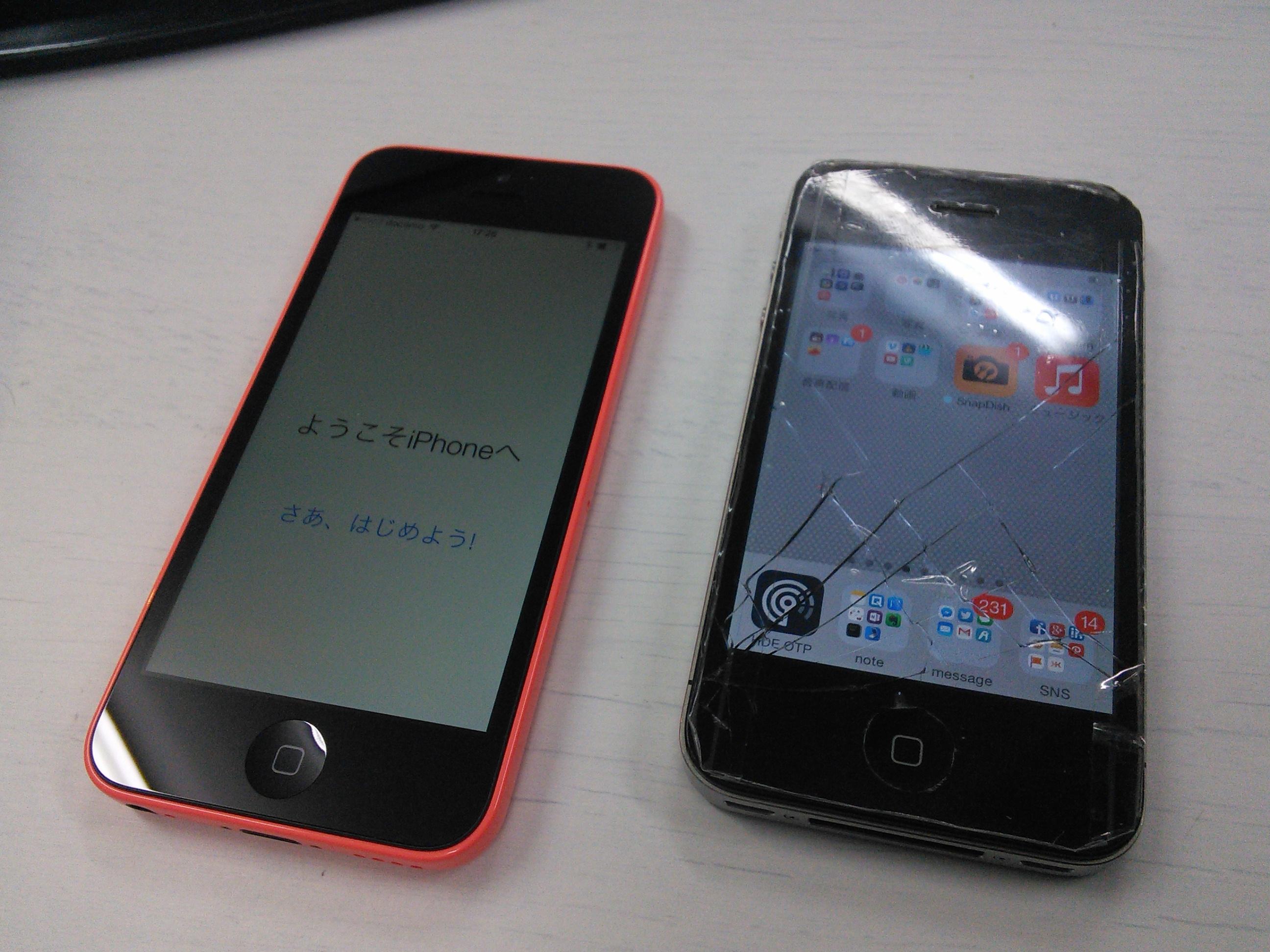 新旧iPhoneを並べてみる