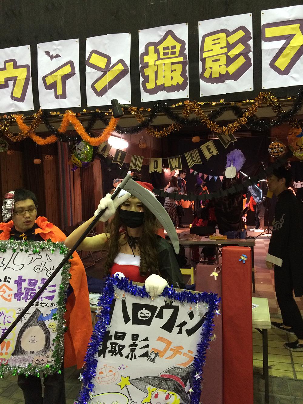 久留米ほとめきハロウィンパーティーでゆらふわモックを展示